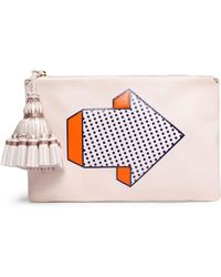 Anya Hindmarch - Tasselled Printed Leather Pouch - Lyst