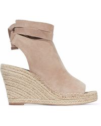 Loeffler Randall - Lace-up Suede Espadrille Wedge Sandals - Lyst