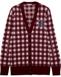 Christopher Kane - Gingham Wool And Cashmere-blend Cardigan - Lyst