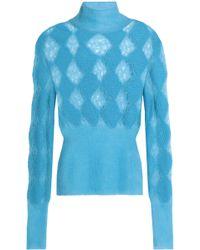 Missoni - Open-knit Turtleneck Sweater - Lyst