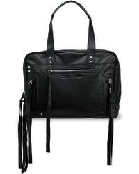 McQ - Fringe-trimmed Leather Shoulder Bag - Lyst