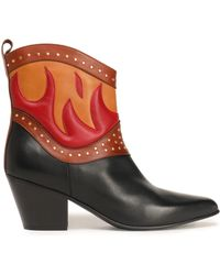 Just Cavalli - Embellished Leather Ankle Boots - Lyst