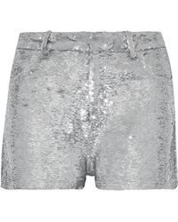 IRO - Sequined Stretch-knit Shorts - Lyst