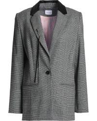 Magda Butrym - Embellished Prince Of Wales Checked Stretch-wool Blazer - Lyst