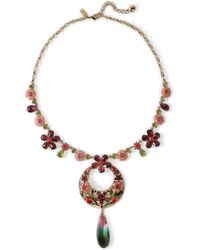 Kate Spade - Woman Gold-tone Crystal Necklace Gold - Lyst