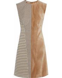 Stella McCartney - Velvet-paneled Jacquard Mini Dress - Lyst