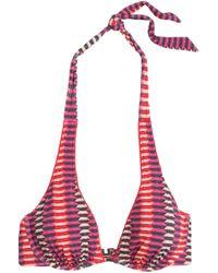 Heidi Klum - Catalina Kisses Printed Underwired Bikini Top - Lyst