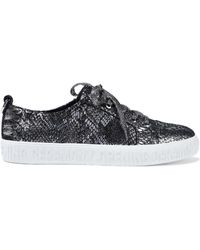 Opening Ceremony - Metallic Snake-print Leather Sneakers - Lyst
