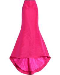 Oscar de la Renta - Silk Maxi Skirt - Lyst