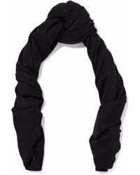 Duffy - Ribbed-knit Cashmere Scarf - Lyst
