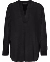 By Malene Birger - Gulana Satin-trimmed Cotton-gauze Tunic - Lyst