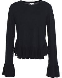 Joie - Ruffled Wool And Silk-blend Jumper - Lyst