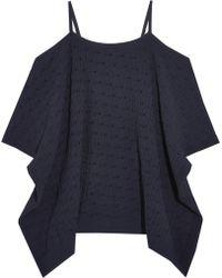 Autumn Cashmere - Cold-shoulder Jacquard Pointelle-knit Top - Lyst