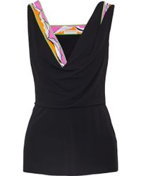 Emilio Pucci - Embellished Printed Jersey Top - Lyst
