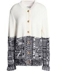 Maison Margiela - Panelled Two-tone Cotton Cardigan - Lyst