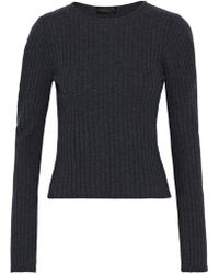 Giambattista Valli - Ribbed Wool, Silk And Cashmere-blend Sweater - Lyst