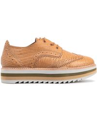 Zimmermann - Woman Croc-effect Leather Brogues Camel - Lyst
