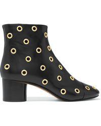 Isabel Marant - Eyelet-embellished Leather Ankle Boots - Lyst