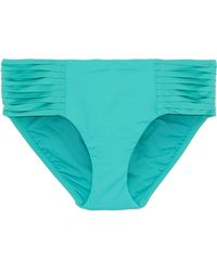 Seafolly - Retro Pleated Mid-rise Bikini Briefs - Lyst