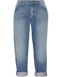 Victoria, Victoria Beckham - Neat Cropped Low-rise Boyfriend Jeans - Lyst
