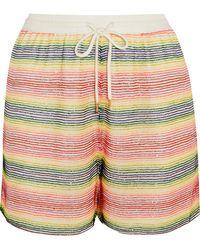 Ashish - Beaded Silk-georgette Shorts - Lyst