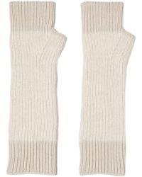 Duffy - Two-tone Merino Wool-blend Fingerless Gloves - Lyst