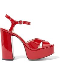 Marc Jacobs - Patent-leather Sandals - Lyst