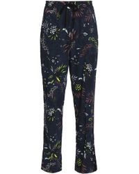 Markus Lupfer - Printed Crepe Track Trousers - Lyst