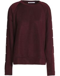 T By Alexander Wang - Button-detailed French Terry Sweatshirt - Lyst