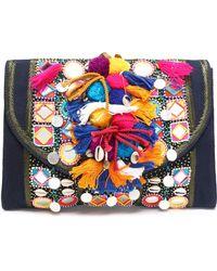 Antik Batik - Embellished Cotton Shoulder Bag - Lyst