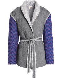 lemlem - Herringbone-paneled Printed Quilted Cotton-blend Jacket - Lyst