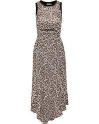 A.L.C. - Sandra Cutout Floral-print Silk Crepe De Chine Midi Dress - Lyst