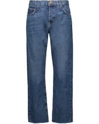 Current/Elliott - The Vintage Straight High-rise Jeans - Lyst