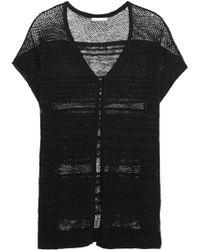 Alice + Olivia - Dawson Paneled Knitted Linen Kaftan - Lyst