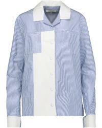 Carven - Striped Cotton-poplin Shirt - Lyst