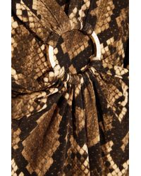 MICHAEL Michael Kors - Printed Stretch-satin Jersey Maxi Dress - Lyst