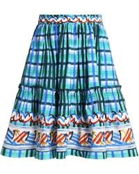 Peter Pilotto - Gathered Printed Cotton Skirt - Lyst