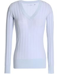 J Brand - Ribbed Cotton-blend Top - Lyst
