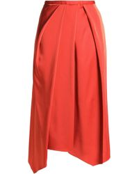 Chalayan - Pleated Satin-crepe Culottes - Lyst