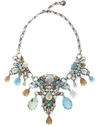 Lanvin - Silver-tone Crystal Necklace - Lyst
