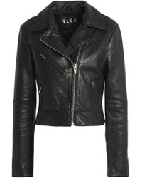 VEDA - Leather Biker Jacket - Lyst