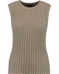 James Perse - Ribbed Cotton-blend Tank - Lyst