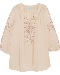 Melissa Odabash - Avalon Embroidered Voile Top - Lyst