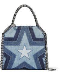 Stella McCartney - Falabella Patchwork Denim Shoulder Bag - Lyst