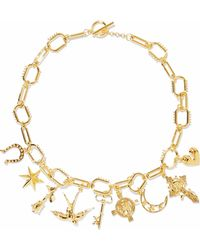 Noir Jewelry - Gold-tone Necklace - Lyst