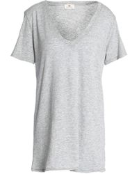AG Jeans - Modal And Supima Cotton-blend Jersey T-shirt Light Grey - Lyst