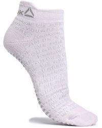 Reebok Embroidered Cotton-blend Socks Lilac - Purple