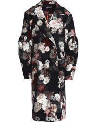 Preen By Thornton Bregazzi - Sitwell Mesh-paneled Floral-print Velvet Coat - Lyst