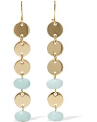 Elizabeth and James - Gold-tone Stone Earrings - Lyst