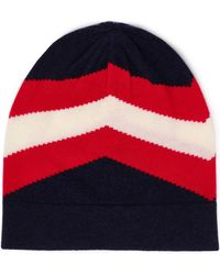 Madeleine Thompson - Woman Intarsia-knit Wool And Cashmere-blend Beanie Navy - Lyst